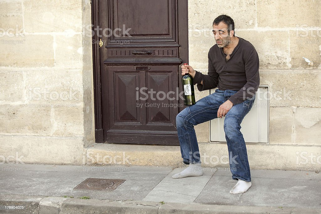 very drunk man royalty-free stock photo
