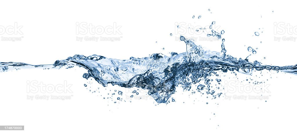 Very dynamic blue water surface royalty-free stock photo