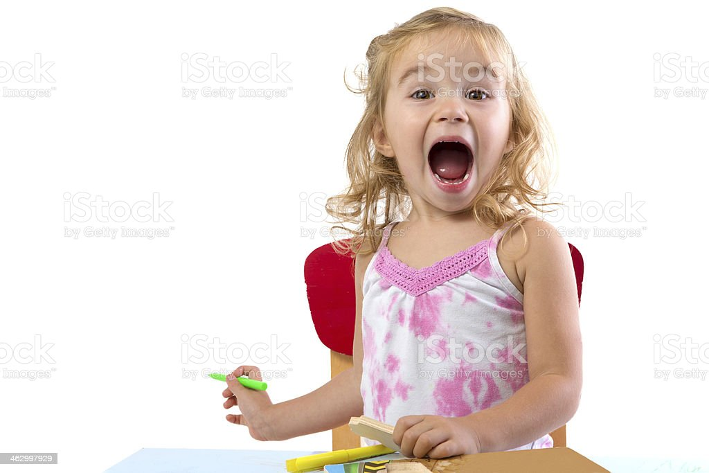 Very Excited Toddler Girl stock photo