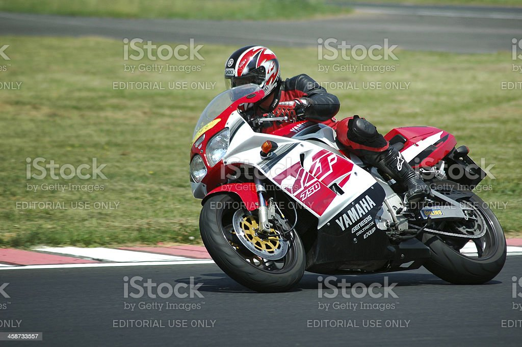 Very fast motorcycle stock photo