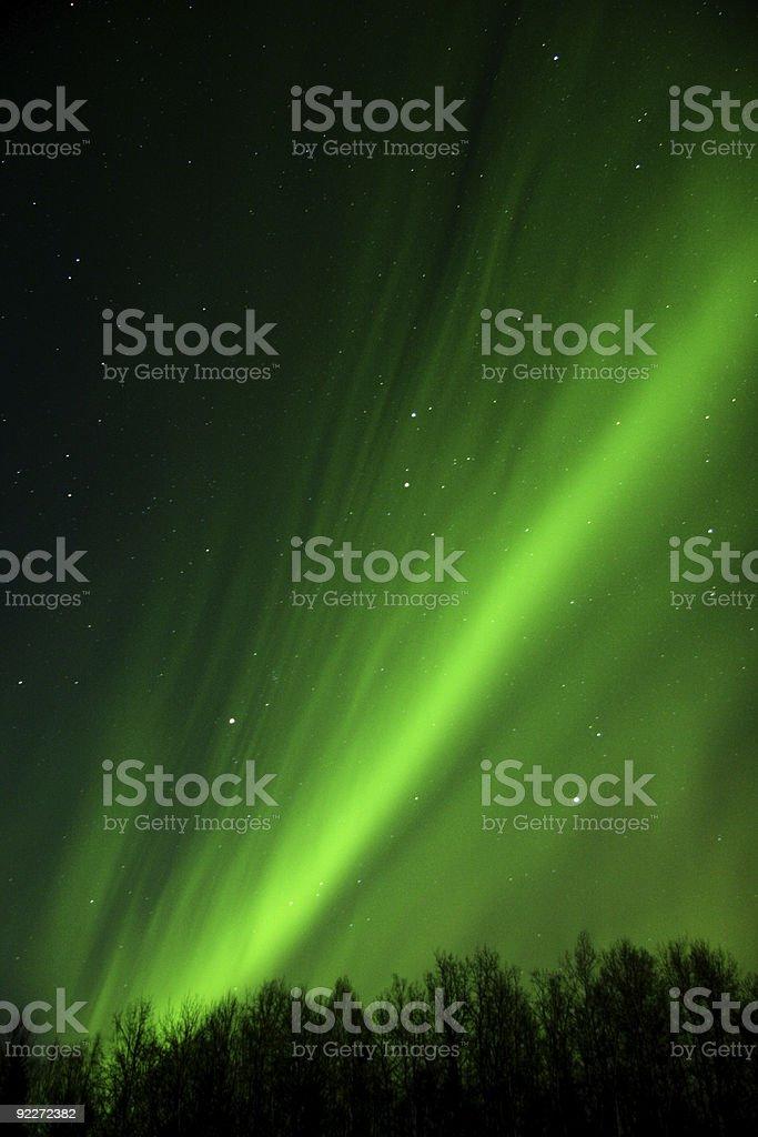 Very fine lamellas of aurora borealis. royalty-free stock photo