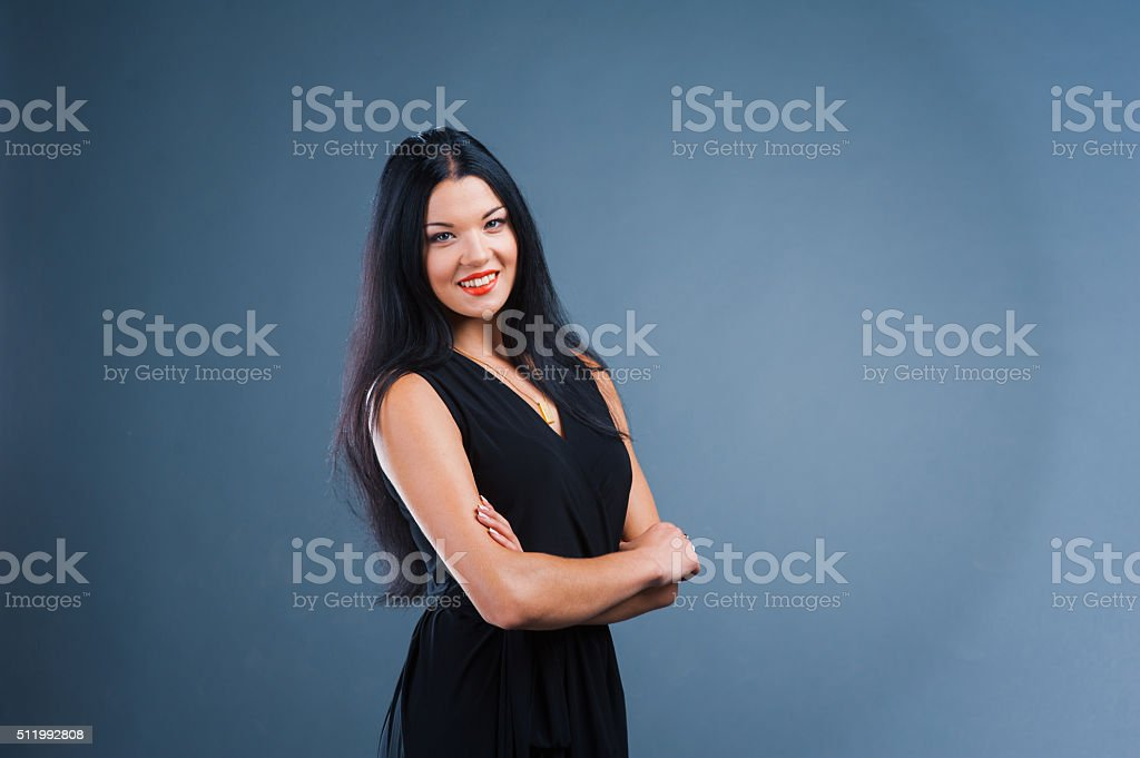 very funny emotional love in a suit. Studio shot stock photo