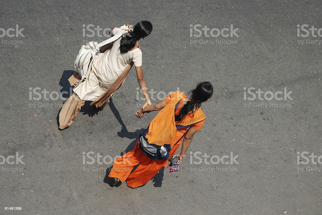 Very good friends, India stock photo