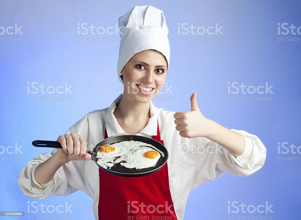 Very good frying egg royalty-free stock photo