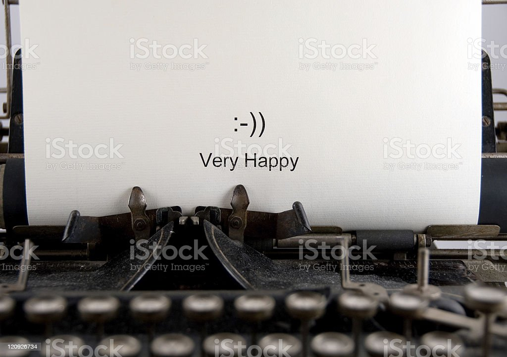 Very Happy... Text Messaging :-)) royalty-free stock photo