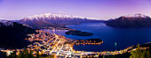 Very High Res Panorama of Queenstown at Night