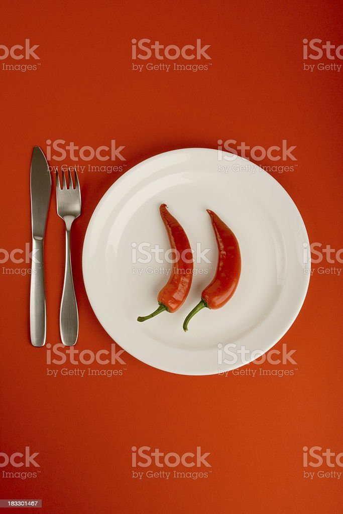 Very Hot Food! royalty-free stock photo