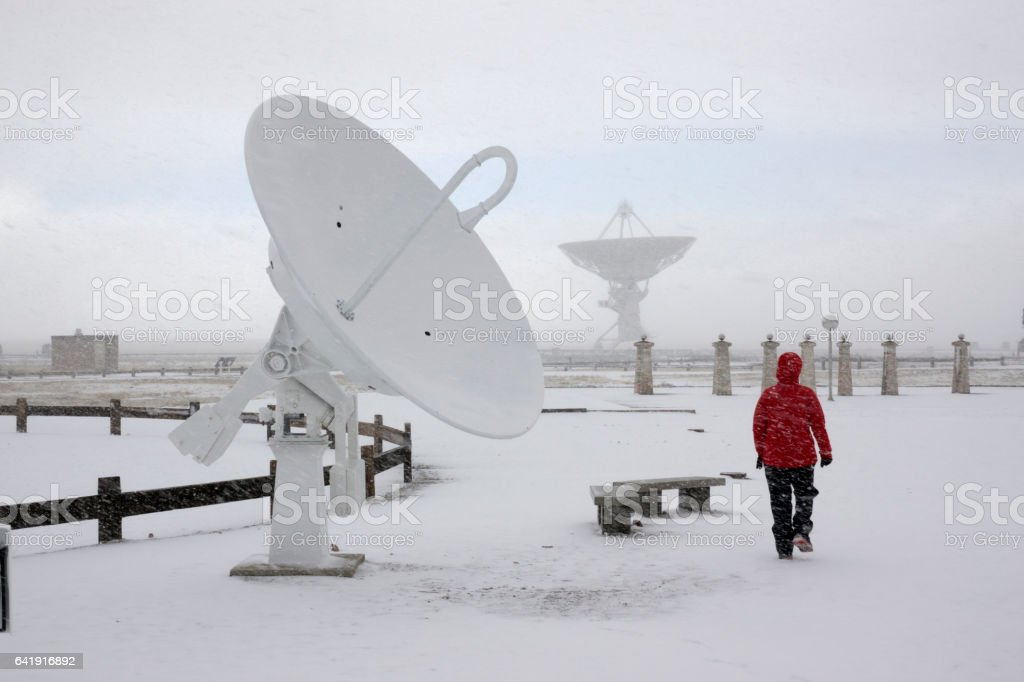 Very Large Array National Radio Astronomy Observatory visitor New Mexico stock photo