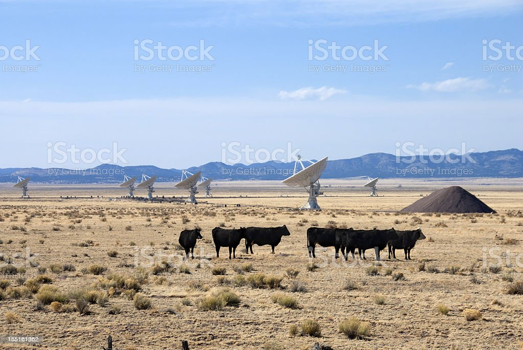 Very Large Array of Radio Telescopes in New Mexico, USA. royalty-free stock photo
