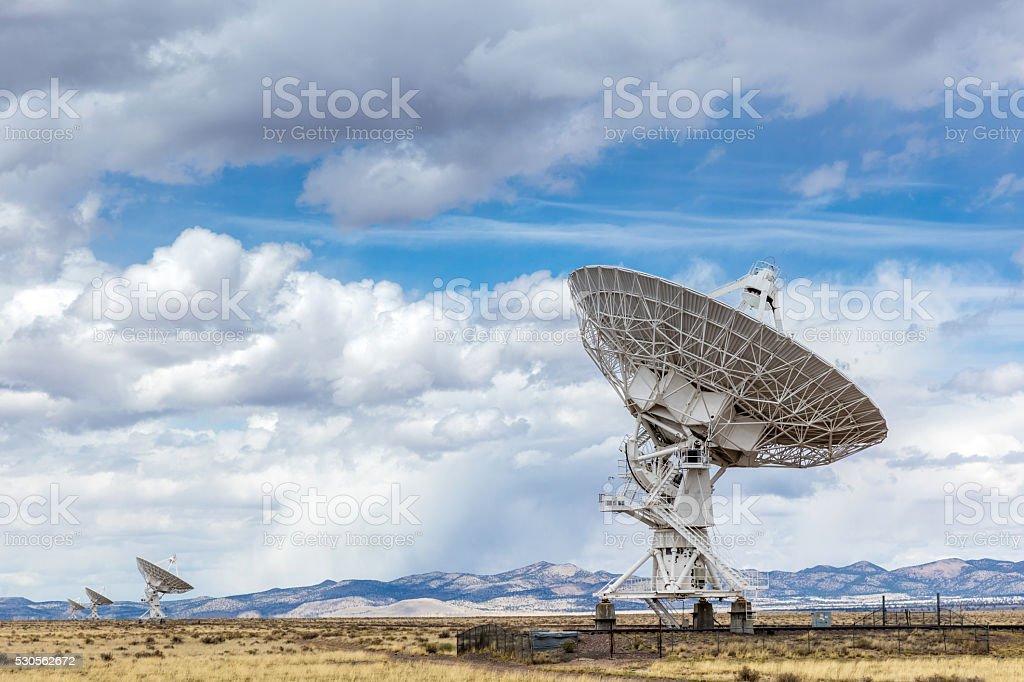 Very Large Array VLA Radio Astronomy Telescope New Mexico stock photo