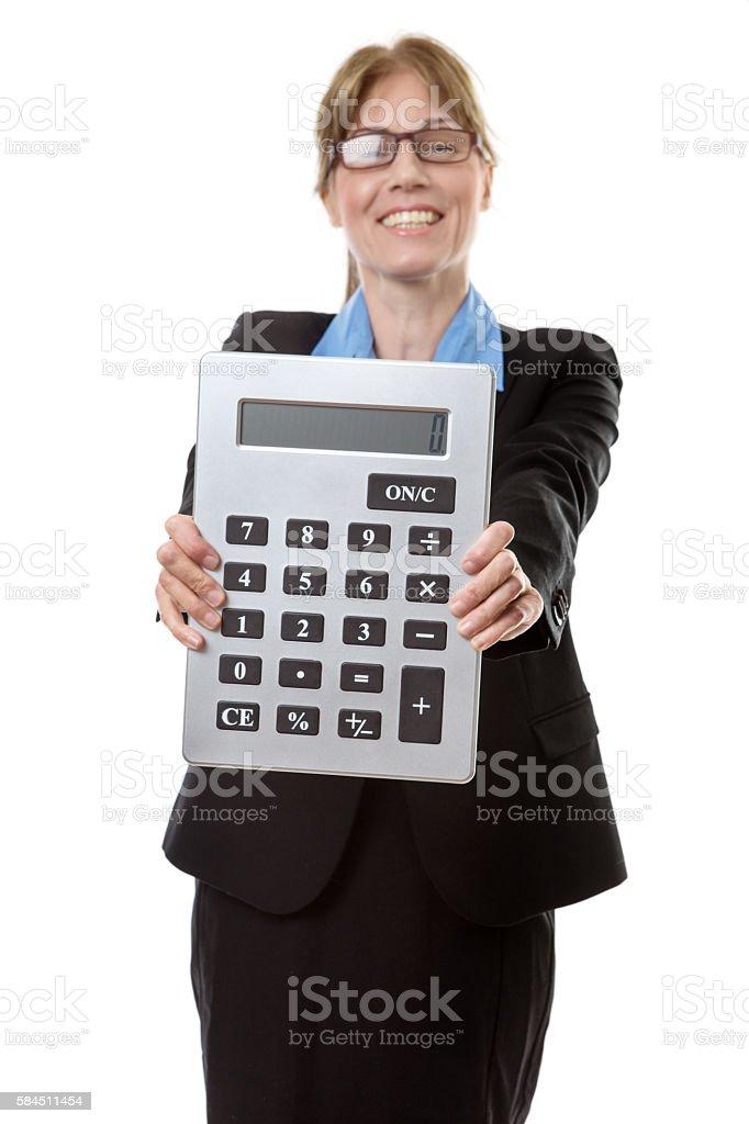 very large calculator stock photo