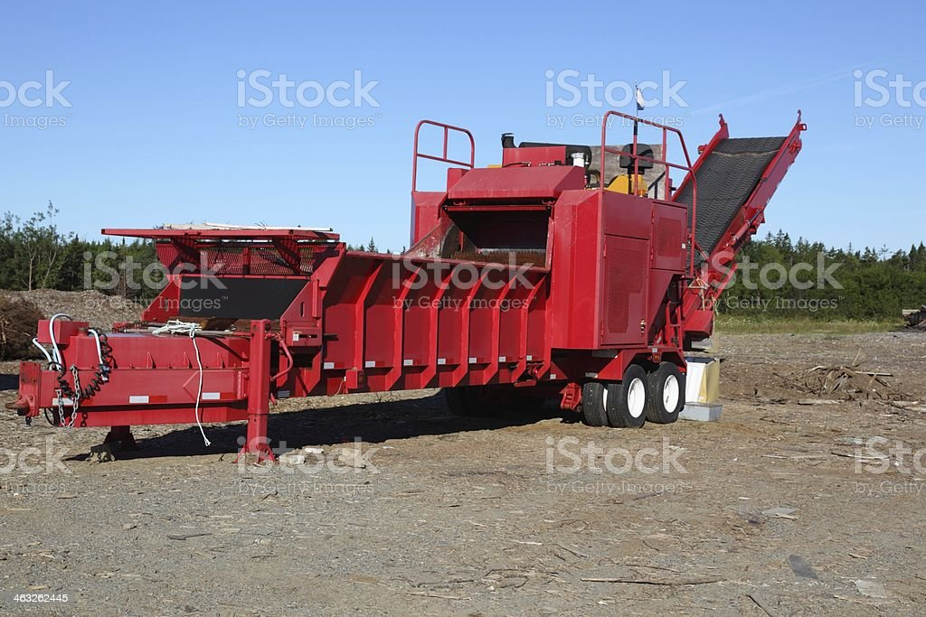 Very large wood chipper stock photo
