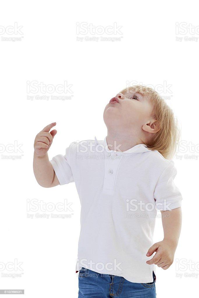 """Très petit garçon à la recherche """" photo libre de droits"""