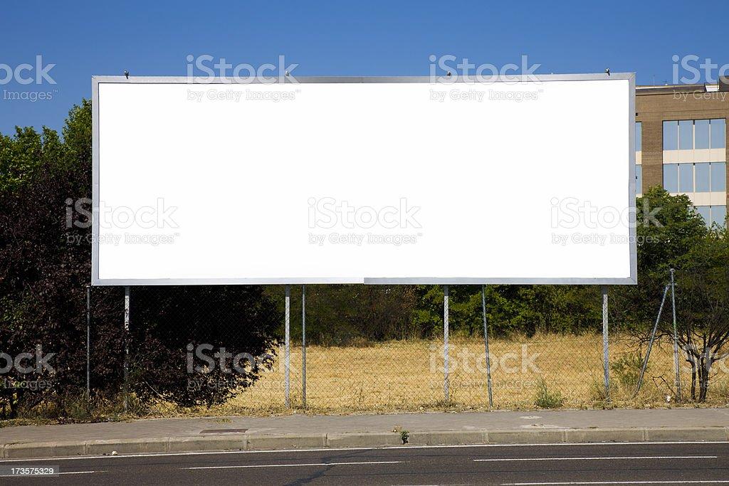 Very low billboard. Series royalty-free stock photo