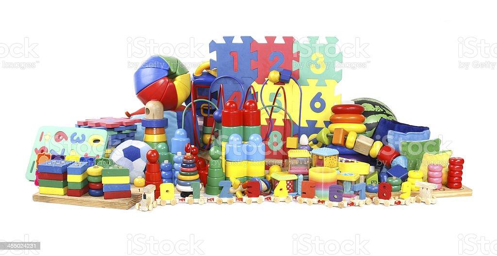 very many toys stock photo