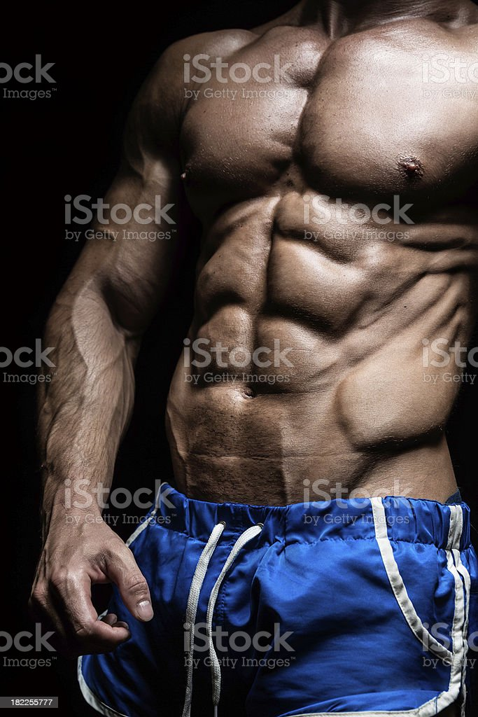 Very muscular man royalty-free stock photo