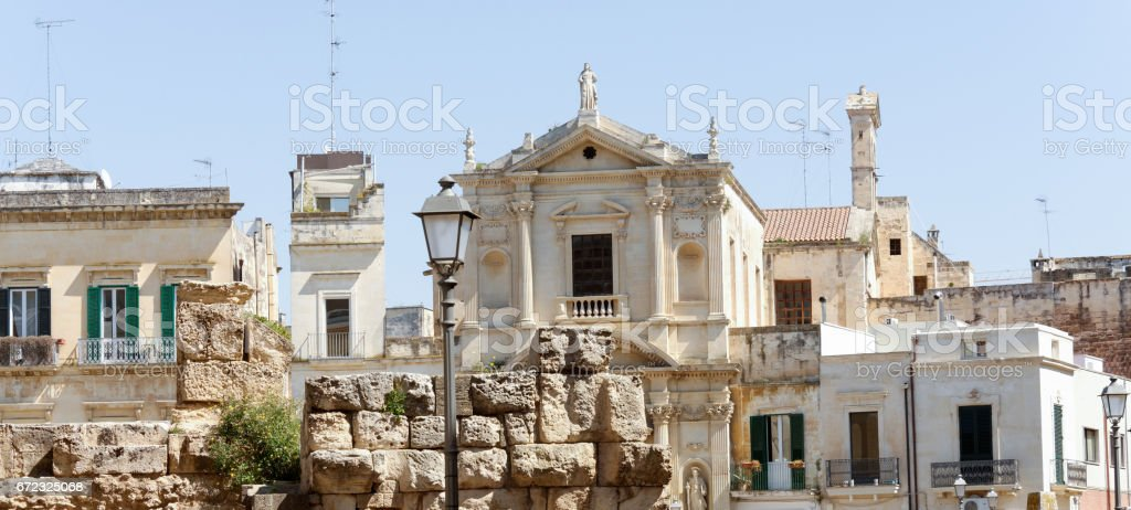 very nice view of lecce stock photo