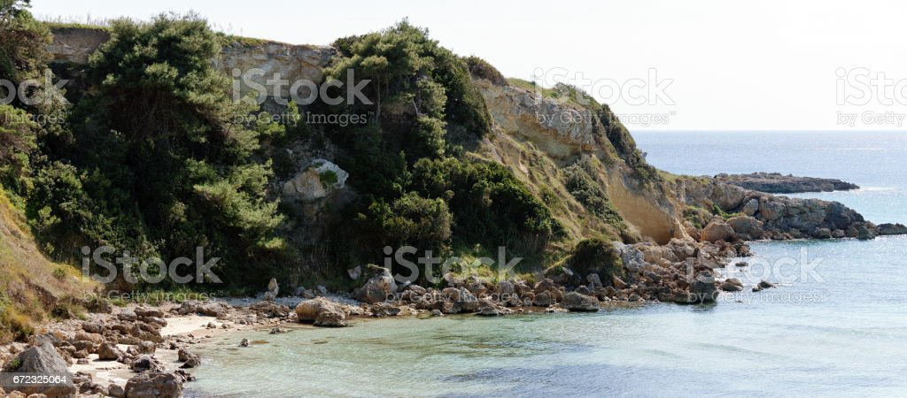 very nice view of puglia coastline stock photo