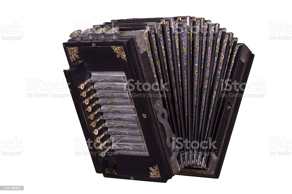 very old accordion stock photo