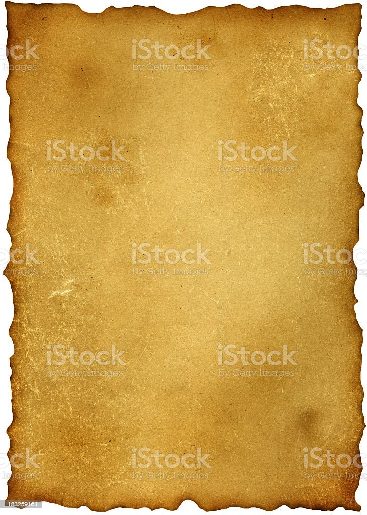A very old and worn out piece of paper  stock photo