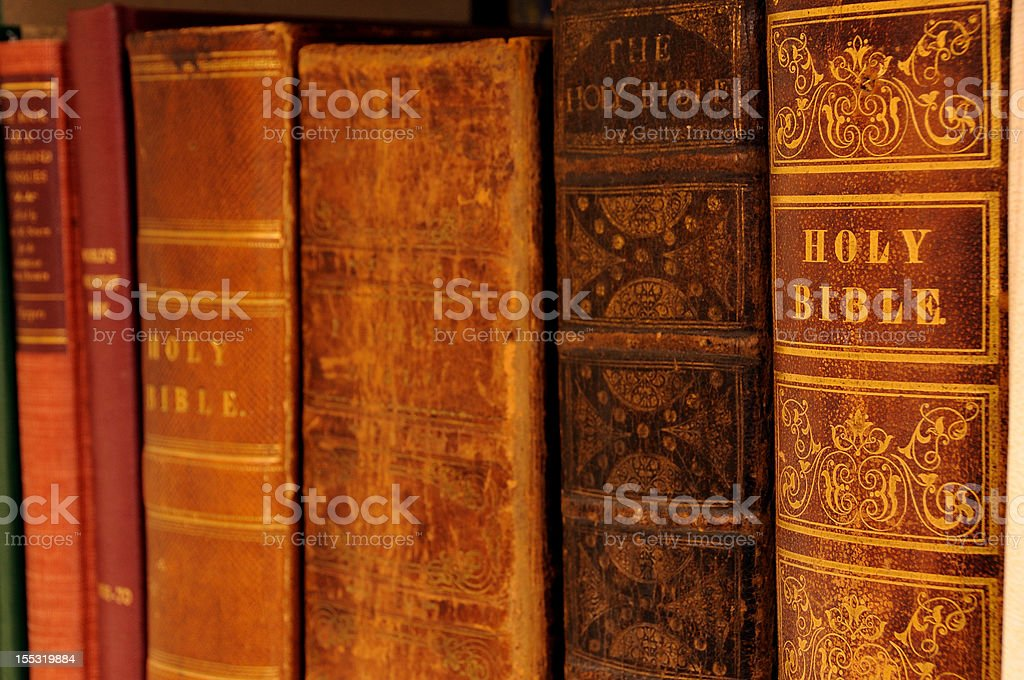 Very Old Bibles stock photo