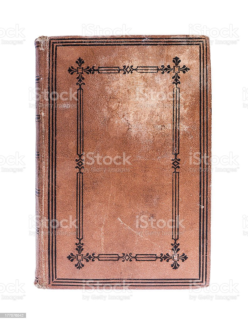 Very Old book  from 19th century royalty-free stock photo