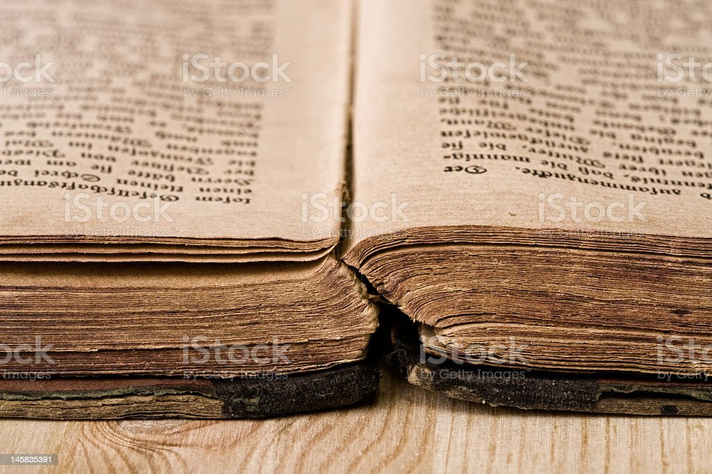 Very Old Book royalty-free stock photo