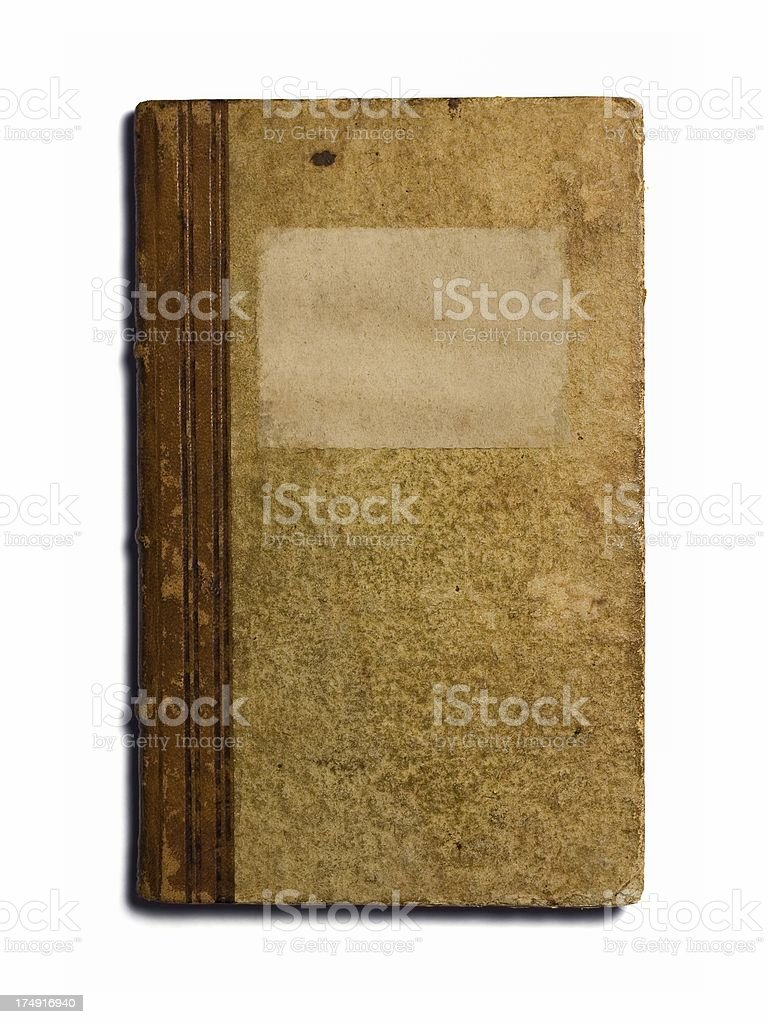 Very old book, with blank label royalty-free stock photo