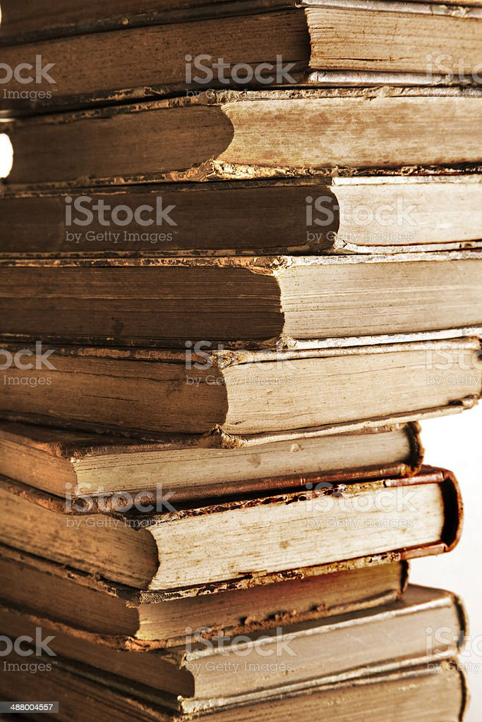 Very old books royalty-free stock photo