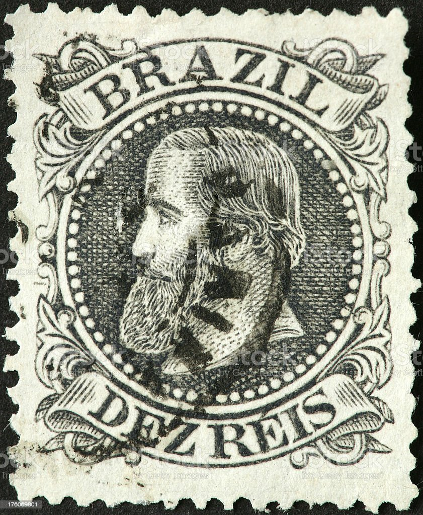 very old Brazilian stamp royalty-free stock photo