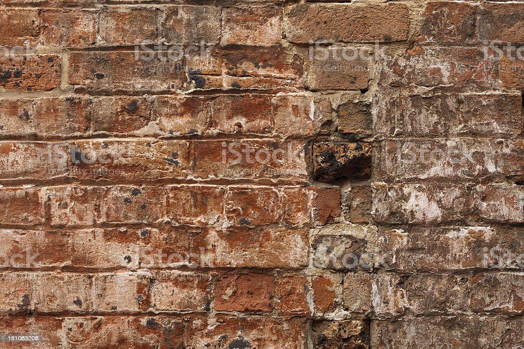 Very Old Brick Wall royalty-free stock photo