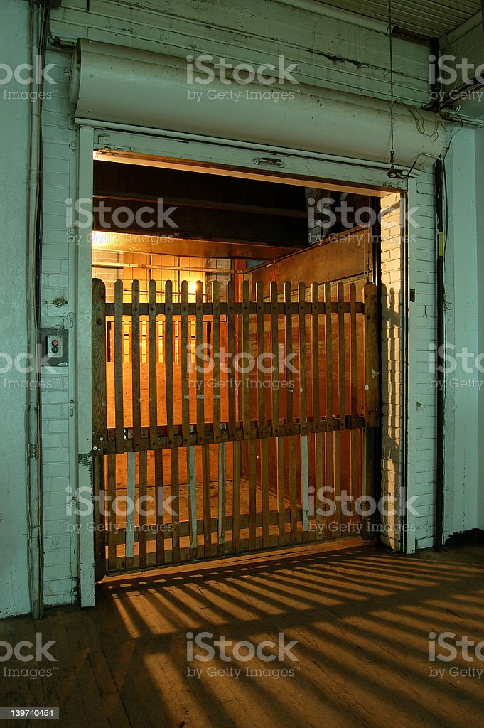 Very old elevator (1st version) royalty-free stock photo