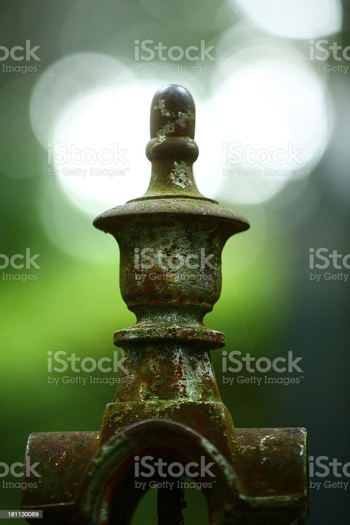 Very old fence. royalty-free stock photo