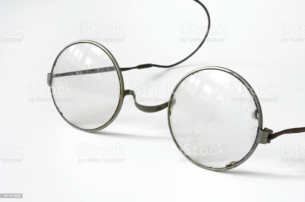 Very old glasses,could be useful for Harry Potter :) royalty-free stock photo