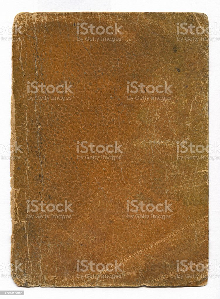 Very Old Leather Book Cover royalty-free stock photo