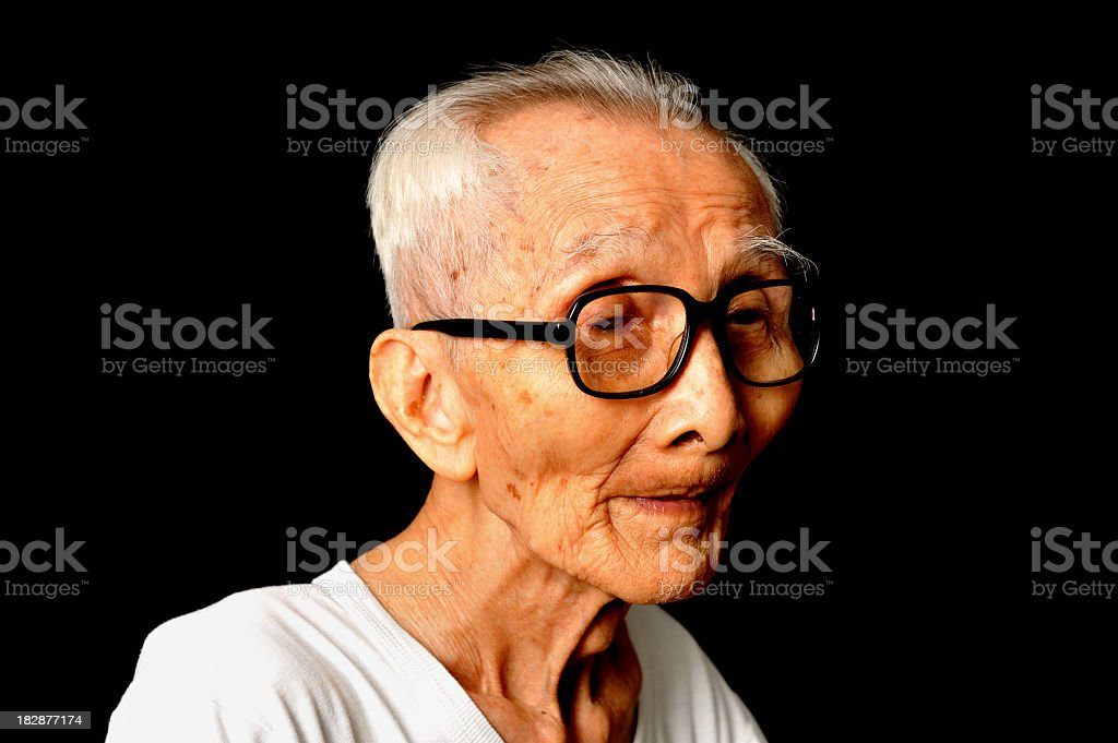 very old man royalty-free stock photo