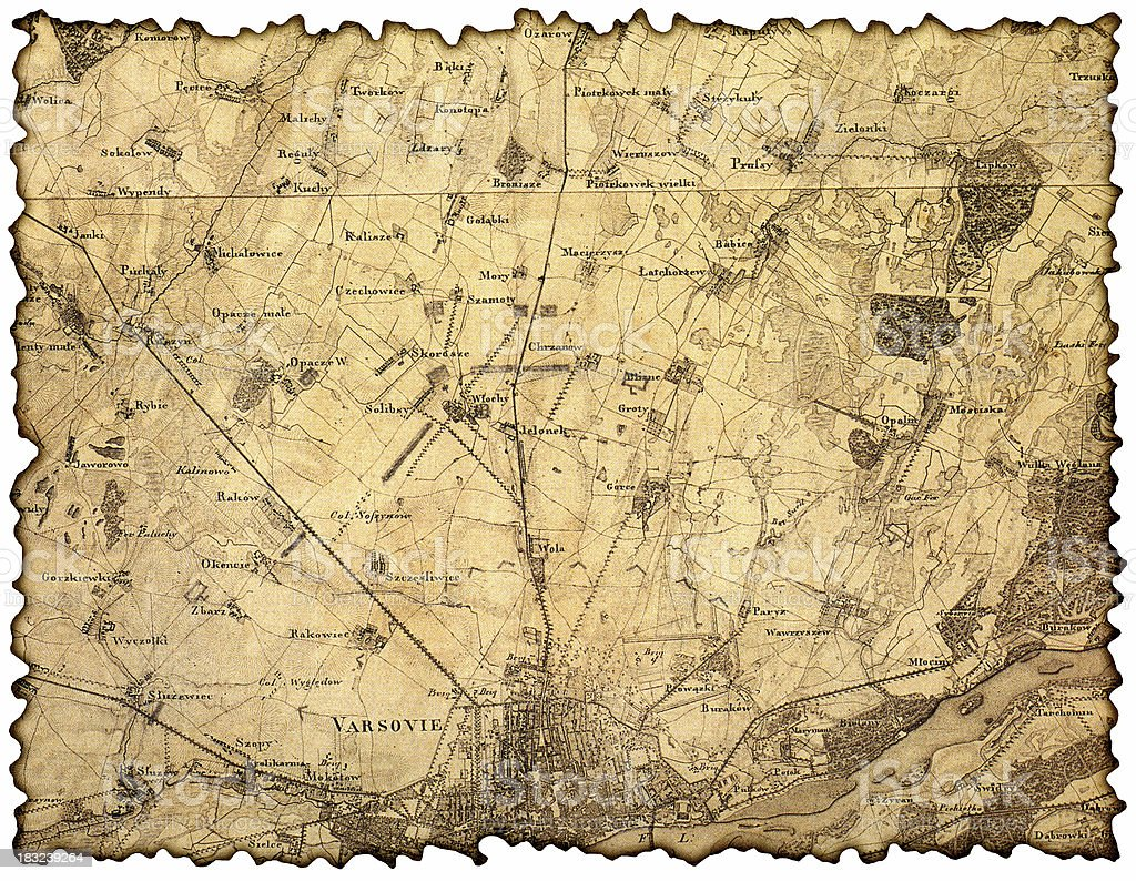 very old map royalty-free stock photo