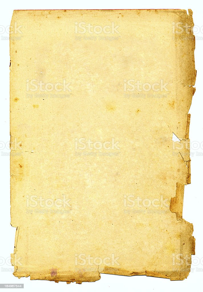 very old paper damage royalty-free stock photo