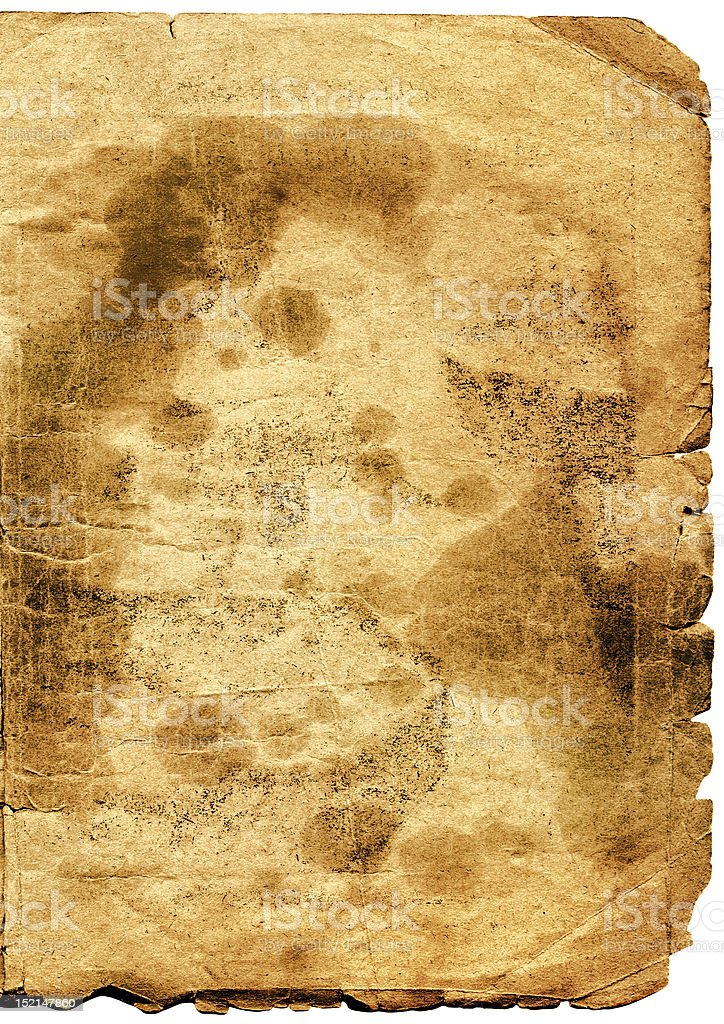 very old paper royalty-free stock photo