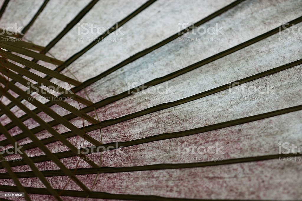 Very Old Paper Umbrella royalty-free stock photo