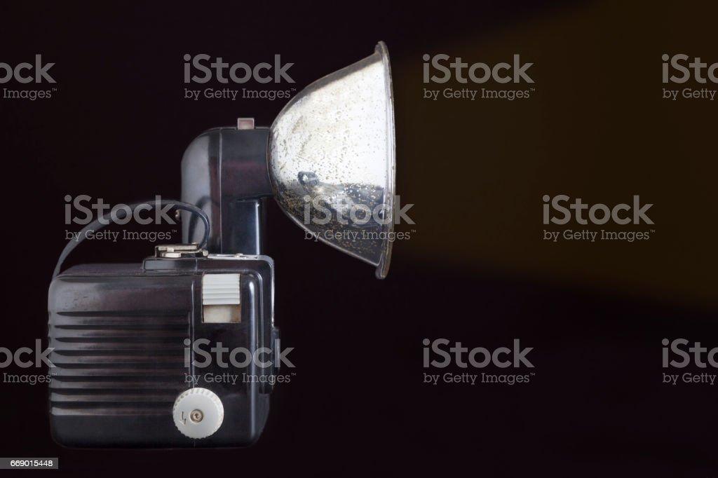 Very old photography camera stock photo