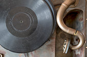 Very old record player