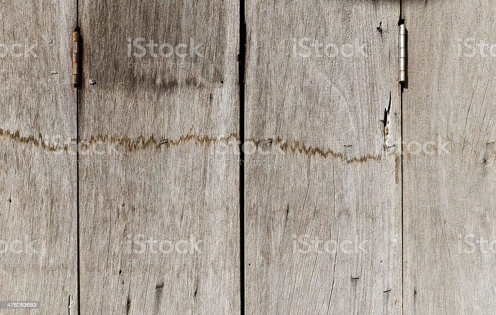 Very old rusty hardwood door royalty-free stock photo