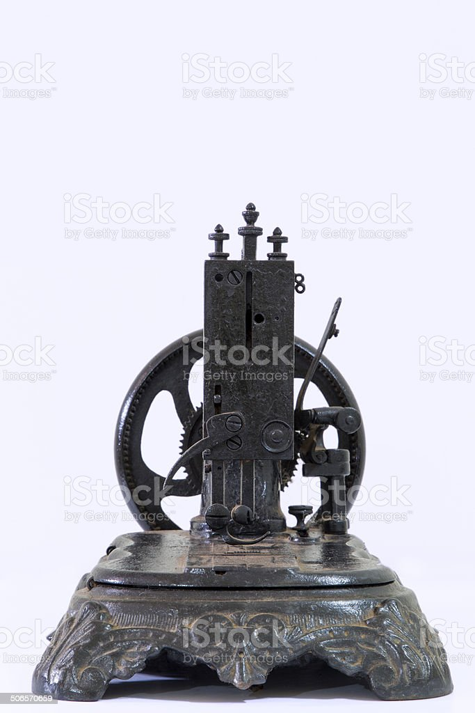 Very old sewing machine royalty-free stock photo
