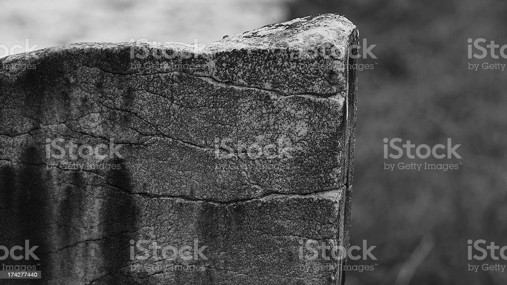 Very Old tombstones, Quebec city, Canada royalty-free stock photo