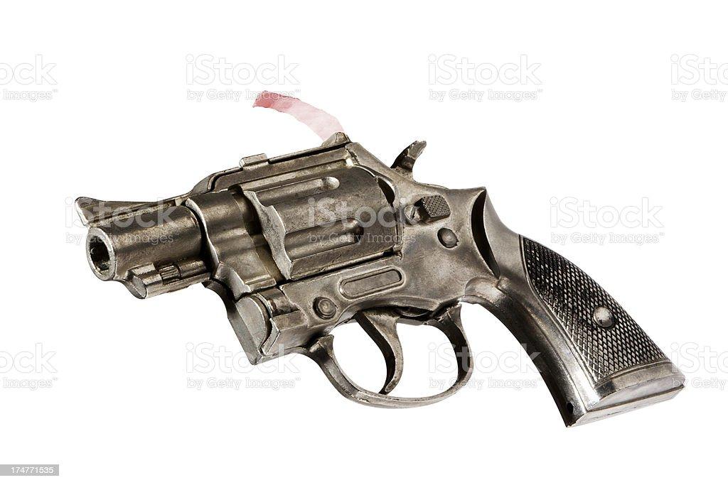 Very old toy cap gun stock photo