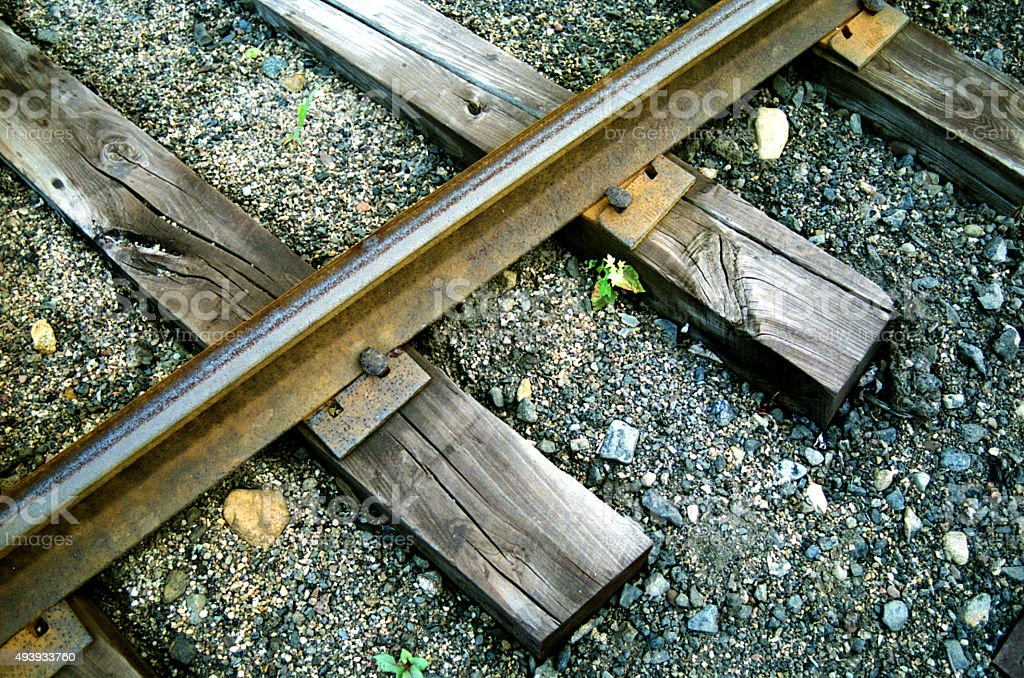 Very Old Train Tracks stock photo