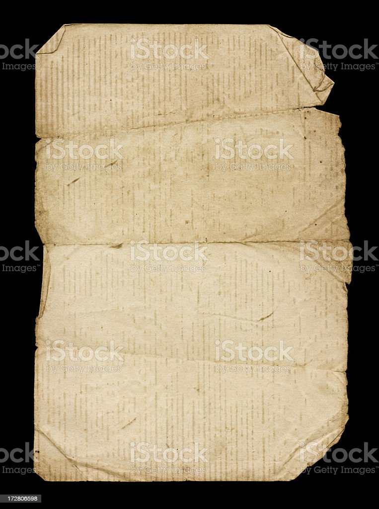 very old worn paper royalty-free stock photo