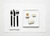 very plain food on plate