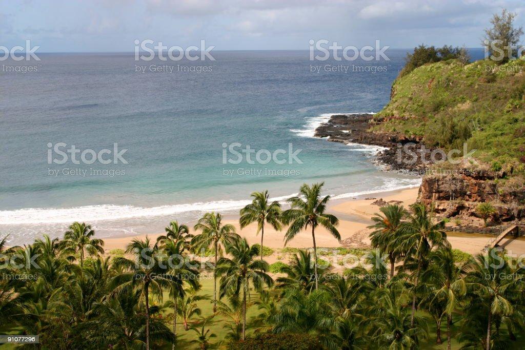 Very private beach stock photo